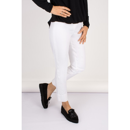 Robell Trousers Bella 7/8 Cropped Jean - White