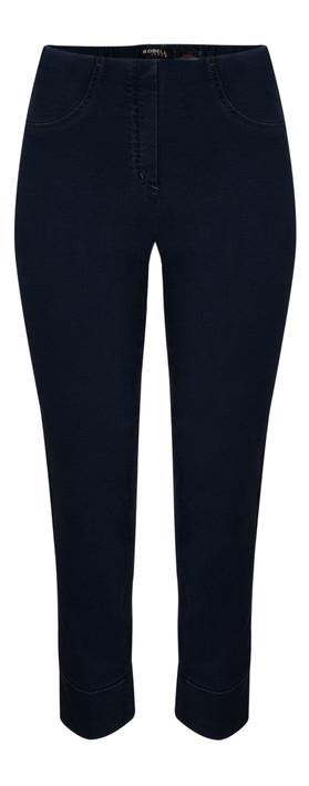 Robell Trousers Bella 7/8 Cropped Jean Dark Denim