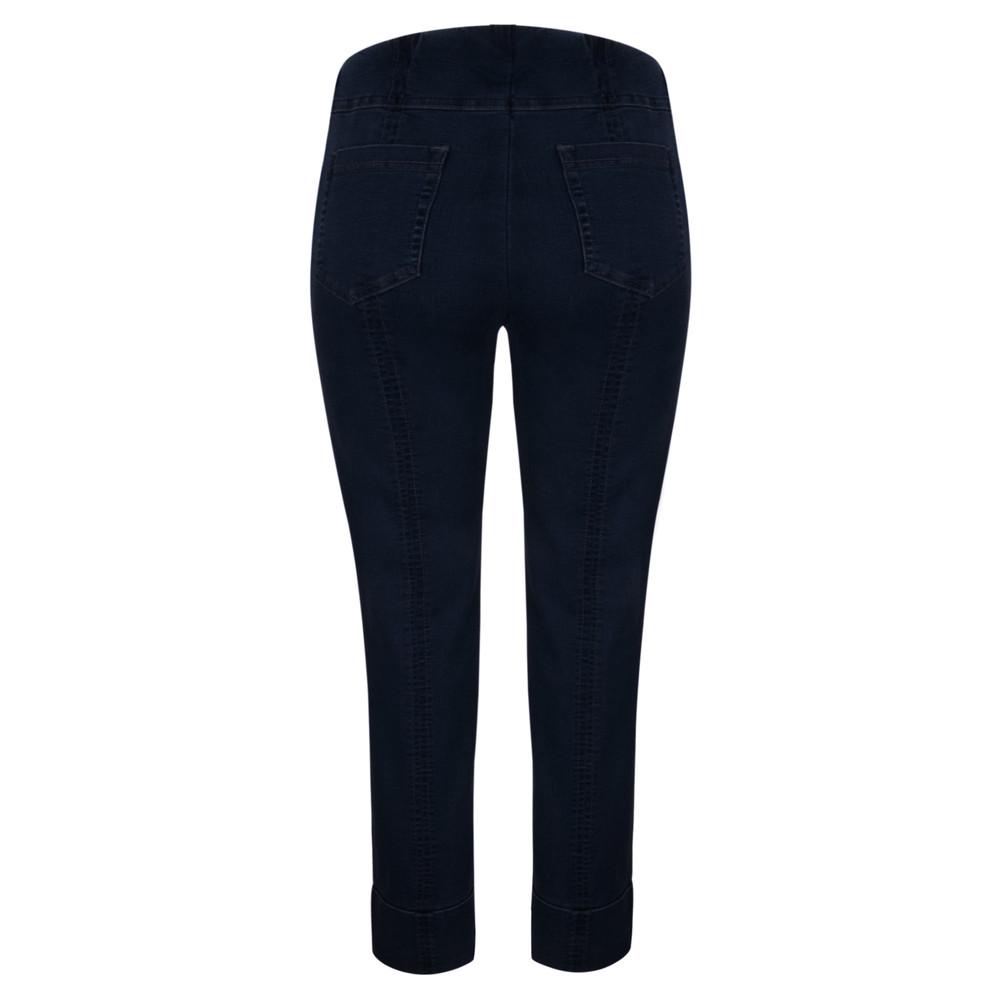 Robell Bella 09 Dark Denim Ankle Crop Length Jean with Cuff Dark Denim