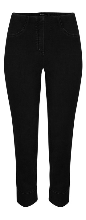 Robell Trousers Bella 09 Jean 7/8 Length with Cuff Black