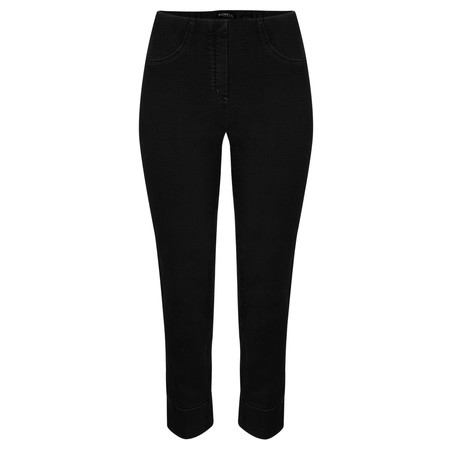 Robell Trousers Bella 09 Jean 7/8 Length with Cuff - Black
