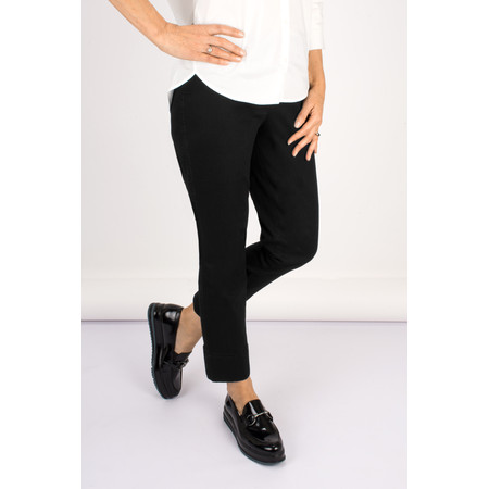 Robell Trousers Bella 7/8 Cropped Jean - Black