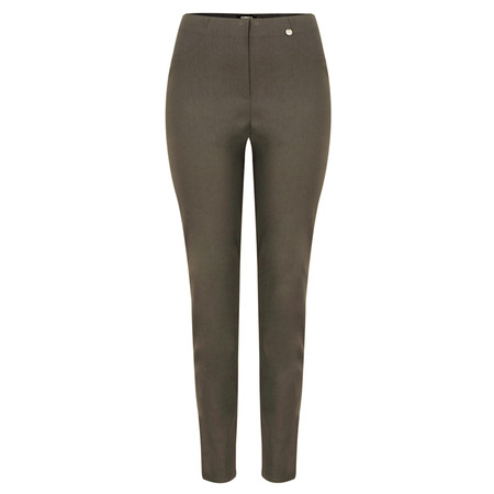 Robell  Bella 78cm Slim Full Length Trouser - Brown