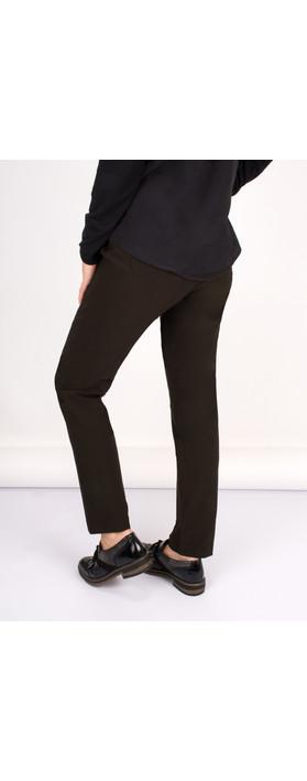 Robell Trousers Bella 78cm Slim Fit Trouser Chocolate Brown