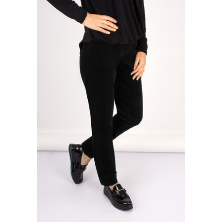Robell Trousers Bella 78cm Needlecord Trouser - Black