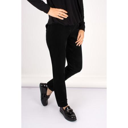Robell Trousers Bella 78cm Needlecord Full Length Trouser - Black