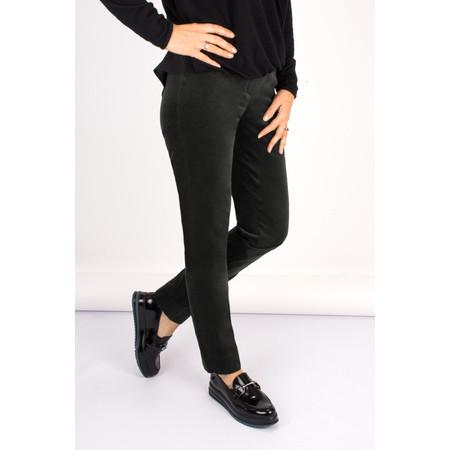 Robell Trousers Marie Stretch Velvet Slim Full Length Trouser - Grey