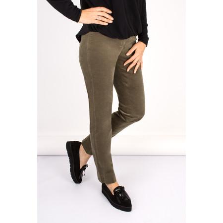 Robell Trousers Marie Stretch Velvet Slimfit Trouser - Beige