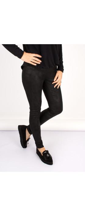 Robell Trousers Collette Coated Jodhpur Legging Black