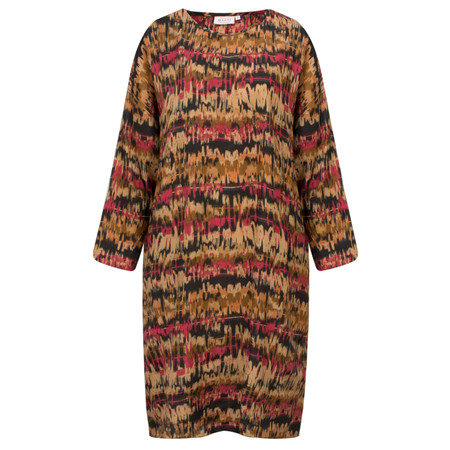Masai Clothing Patterned Noa Dress - Orange