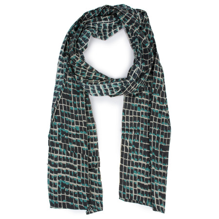 Masai Clothing Tile Print Along Scarf - Blue