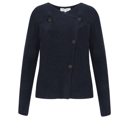 Sandwich Clothing Button Detail Wool Cardigan - Blue