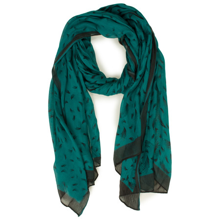 Sandwich Clothing Feather Print Scarf - Green