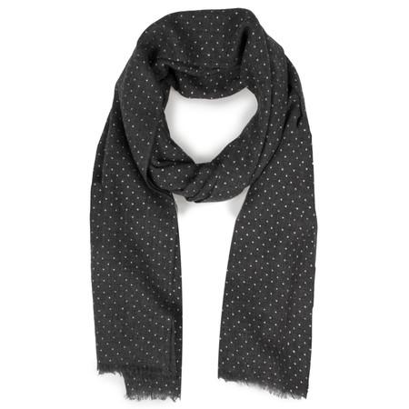 Sandwich Clothing Dot Print Wool Scarf - Grey
