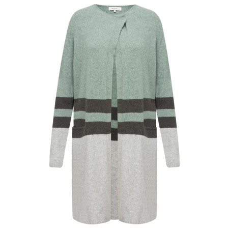 Sandwich Clothing Longline Lambswool Cardigan  - Green