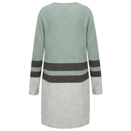 Sandwich Clothing Longline Lambswool Cardigan  - Green