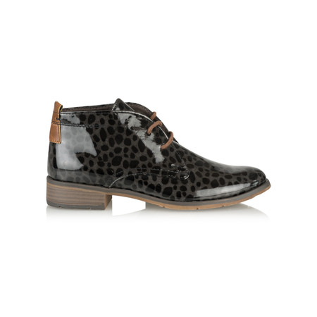 Marco Tozzi Magdalena Animal Patent Boot - Grey