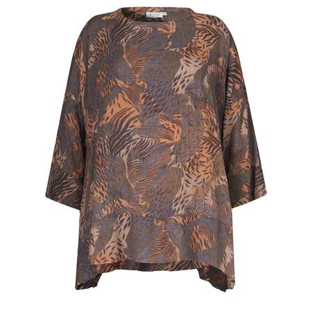 Masai Clothing Brandy Jungle Print Top - Bronze