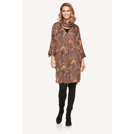 Masai Clothing Ninon Jungle Print Dress - Bronze