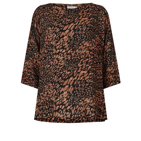 Masai Clothing Brandy Animal Print Top - Bronze