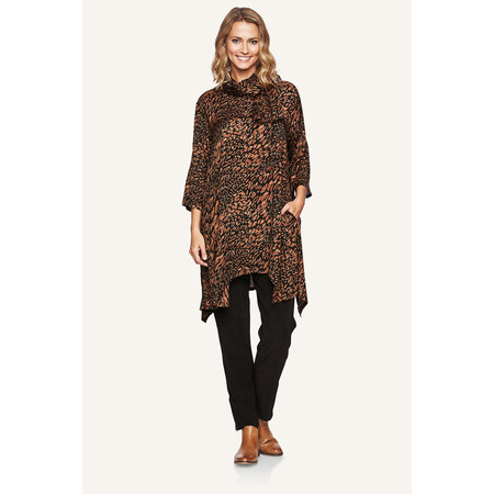 Masai Clothing Gro Animal Print Tunic - Bronze