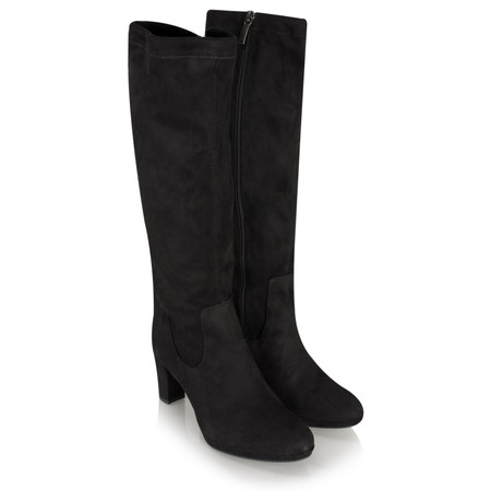Tamaris  Suede Stretch Boot - Black