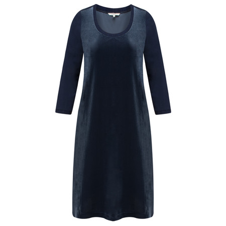 Sandwich Clothing Velvet Front Jersey Dress - Blue