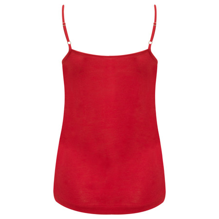 Sandwich Clothing Lace Trim Jersey Camisole  - Red