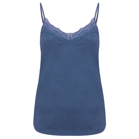 Sandwich Clothing Lace Trim Jersey Camisole  - Blue