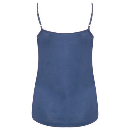 Sandwich Clothing Lace Trim Jersey Camisole  - Blue
