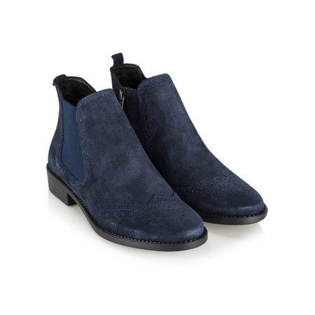 Tamaris  Erin Brogue Chelsea Boot - Blue