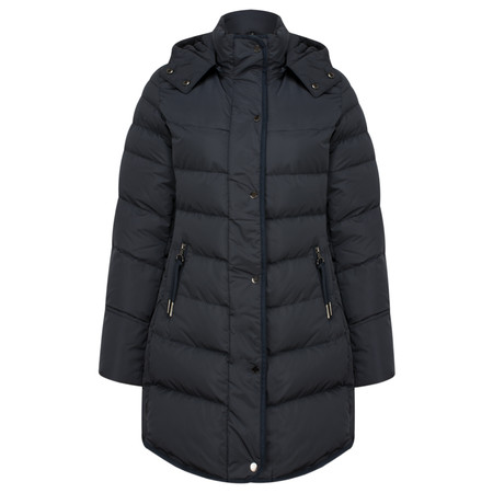 RINO AND PELLE Nusa Classic Longline Padded Coat - Blue