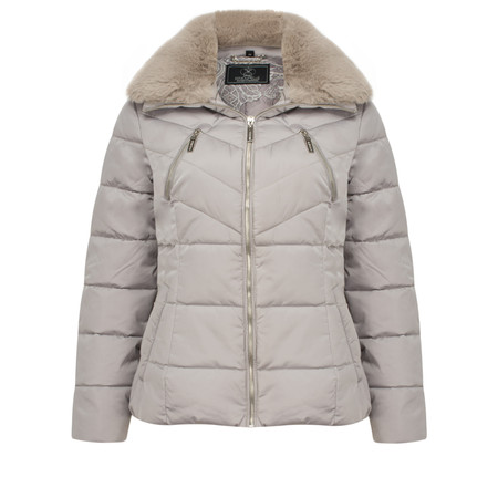 RINO AND PELLE Quilted Temmy Jacket - Silver