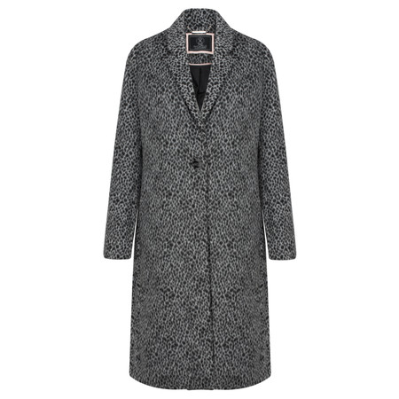RINO AND PELLE Kaia Leopard Coat - Grey
