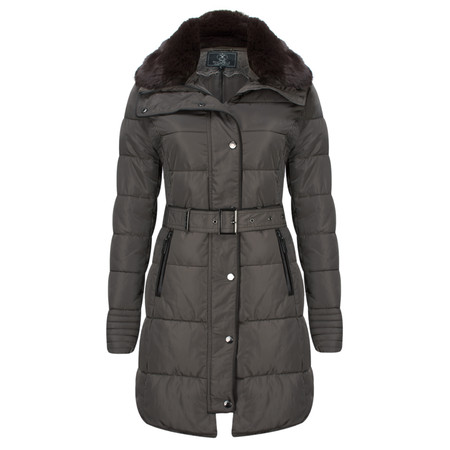 RINO AND PELLE Quilted Blush Coat - Brown