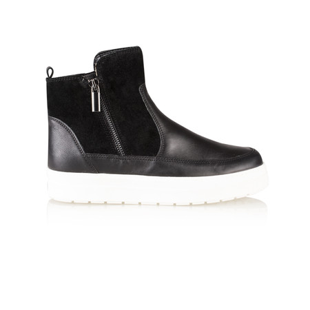 Caprice Footwear Jana Leather Flatform Ankle Boot - Black