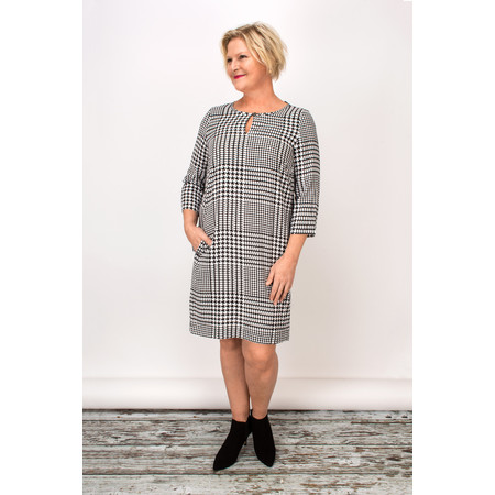 Sandwich Clothing Dogtooth Print Dress - Black