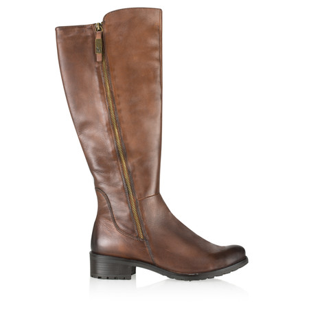 Caprice Footwear Helena Long Leather Boot - Brown