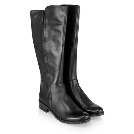 Caprice Footwear Helena Long Leather Boot - Black
