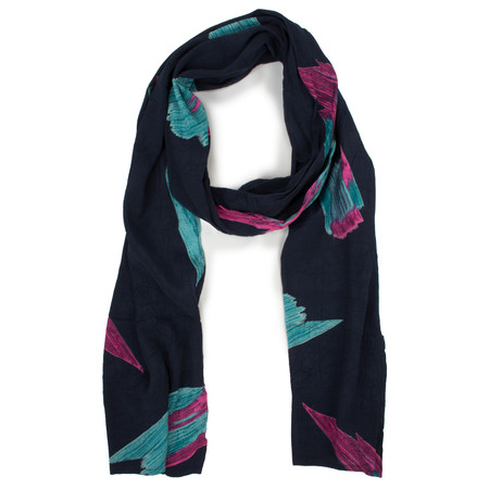 Masai Clothing Along Brush Stroke Scarf - Blue