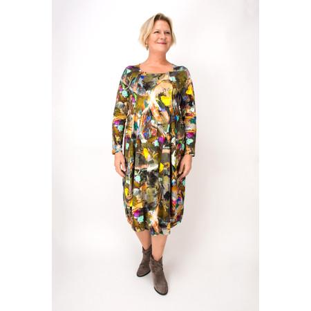Sahara Artist Canvas Jersey Panel Dress - Multicoloured