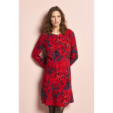 Sandwich Clothing Blurred Dot Patterned Dress - Red