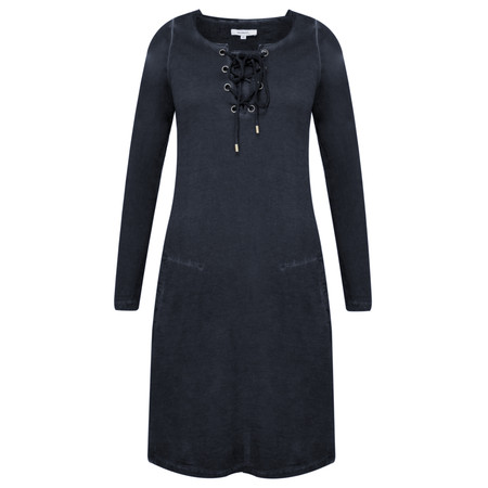 Sandwich Clothing Tie Neck Jersey Dress - Blue