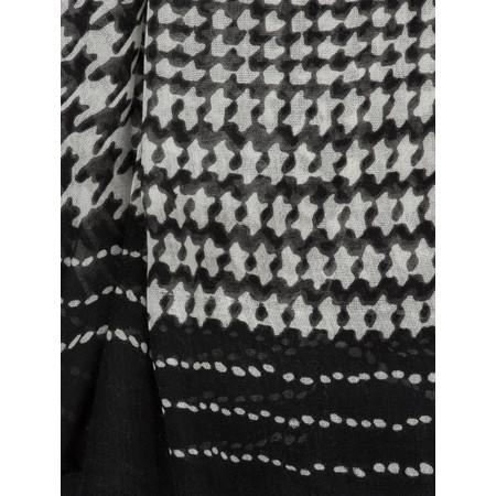 Sandwich Clothing Check Print Modal Scarf - Black