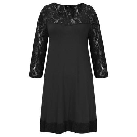Myrine Loki Velvet Lace Dress - Black