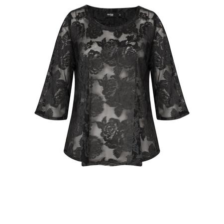 Myrine Kronos Lace Top - Black
