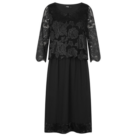 Myrine Krish Lace Dress - Black