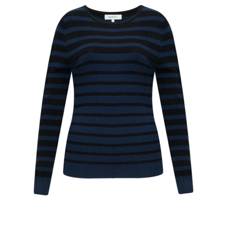 Sandwich Clothing Striped Rib Jumper - Black