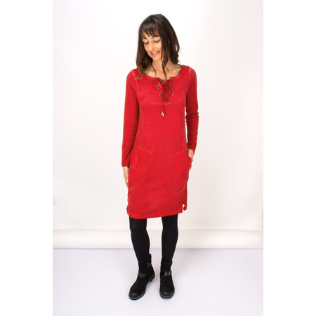 Sandwich Clothing Tie Neck Jersey Dress - Red