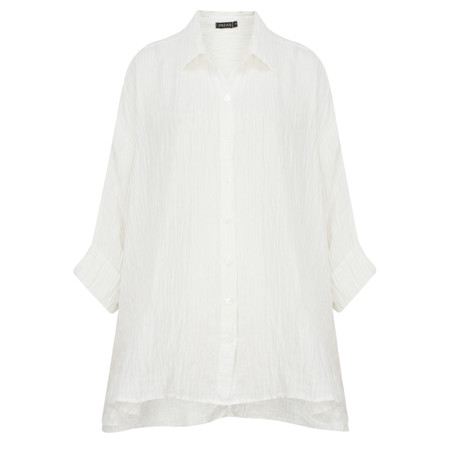 Grizas Shirin Crinkle Loose Shirt - White